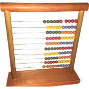 Old Wooden Painted Abacus Counting Tool