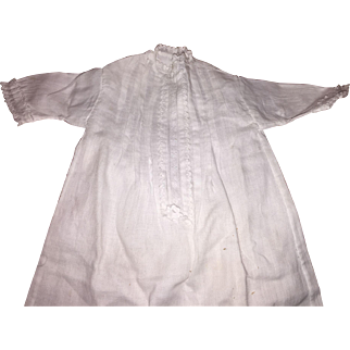 Antique Cotton Cloth White Hand Stitched Gown