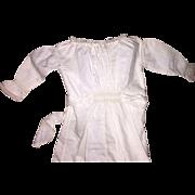 """Antique Victorian 18.5"""" White Doll Dress Undergarment"""