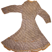 Antique Victorian Cotton Doll Dress