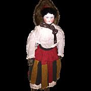 Antique German Mid 1800's Civil War Era China Head Doll