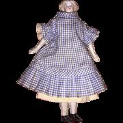 Antique German Parian Flat Foot Dollhouse Doll