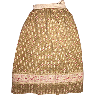 Antique Calico Old Doll Skirt