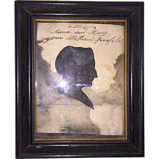 Antique Early American Silouette Of Anne Cleveland Bradford