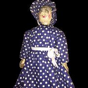 Antique Wooden Darning Egg  Folk Art Doll