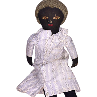 Antique American Black Cloth Rag Doll