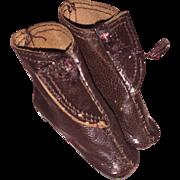 Handmade Leather Miniature Fashion Doll Shoes