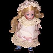 """Antique German 602 Kestner 6"""" Character All Bisque Doll"""