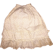 Antique Soft Cotton Ruffled Doll Skirt