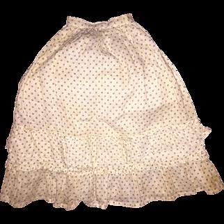 Antique Soft Cotton Ruffled Doll Skirt