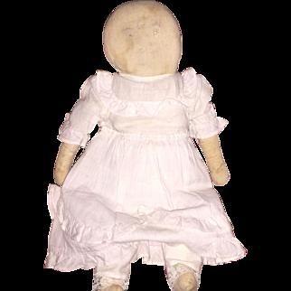 Old Lollipop Head Folk Art Cloth Rag Doll