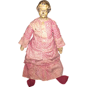 Antique American Darrow Leather Head Doll