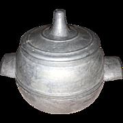Antique German Miniature Rare Metal Victorian Dollhouse 3 Piece Double Boiler