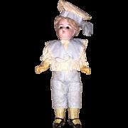 Antique German Bisque Head Boy Fashion Doll