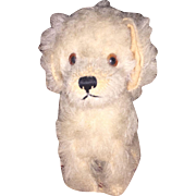 Antique Mohair Glass Eyed Swivel Head Doggy