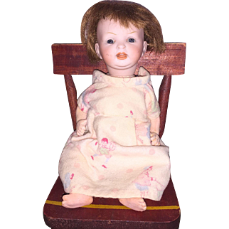 Antique Kestner 152 Bisque Socket Head Character Baby