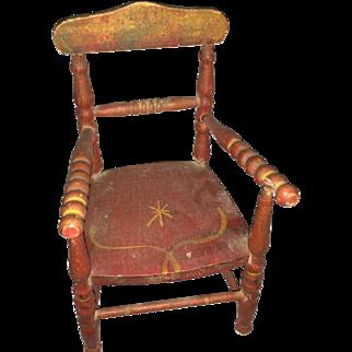 Antique Primitive Miniature Painted Chair