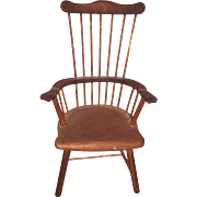 Old Miniature Salesman Sample Comb Back Windsor Chair