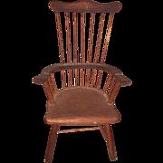 Old Miniature Salesman Sample Comb Back Windsor Chair