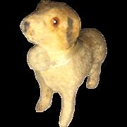Rare Antique Miniature Felt Putz Stick Leg Companion Saint Bernard Doggy