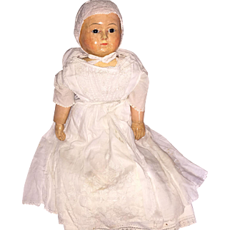 Antique Rare Motschmann Taufling Doll