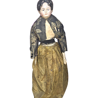 Antique German Rare Paper Mache Milliner Body All Original Doll
