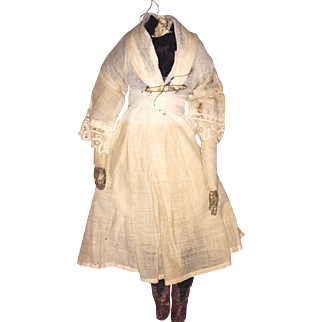 Antique Cloth Folk Art  Doll Body
