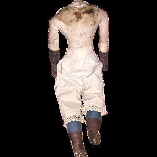 Antique Folk Art Cloth Doll Body