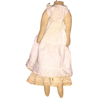 """Antique Cloth 8.5"""" Doll Body With Undergarments"""
