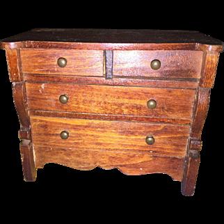 Tynietoy Miniature Wooden 4 Drawer Dresser
