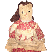 Antique Home Made Volland Type Raggedy Ann Doll