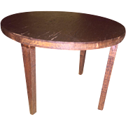 Tynietoy Wooden Round Occasional Dollhouse Table