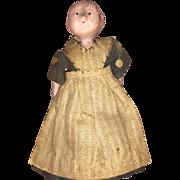 Antique Early Miniature Motschmann Paper Mache Doll