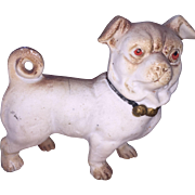 Antique Parian Bisque German Pug Doggy