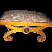 Antique Miniature Salesman Sample Doll Ottomen Stool