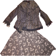 Antique Doll Blouse and Skirt