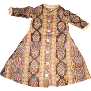 Antique Early Calico 19th Century Doll Dress