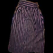 Antique Early Striped Velvety Doll Skirt