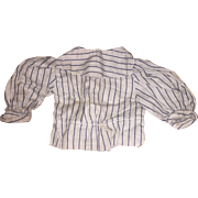 Antique Early Pin Striped Doll Blouse
