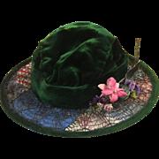 Antique Velvet Doll or Teddy Bear Hat