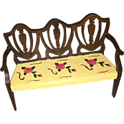 Tynietoy Painted Dollhouse Settee Bench