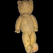 Early Folk Art American Rag Doll Teddy Bear