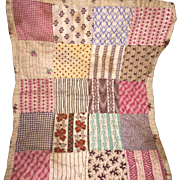 Antique Early Sampler Quilt Textile