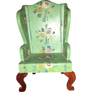 Tynietoy Painted Dollhouse Wing Arm Chair