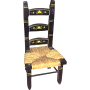 Tynietoy PInted Rush Seat Dollhouse Miniature Chair