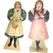 Antique Victorian Rare Metamorphic Paper Dolls