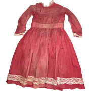 Antique Red Early Cloth Dress