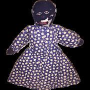 Antique Folk Art Black Americana Cloth Church Rag Doll
