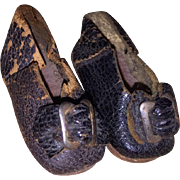 Antique Leather Miniature Fashion Doll Shoes