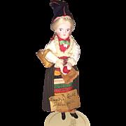 Antique German Rare All Original Bisque Dollhouse Doll